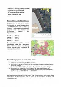 Die Stadt Coswig (Anhalt) schreibt Baugrundstücke aus ('Alte Gärtnerei') Nr. 2